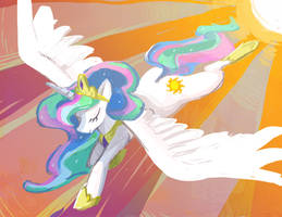 Princess Celestia by Skypup