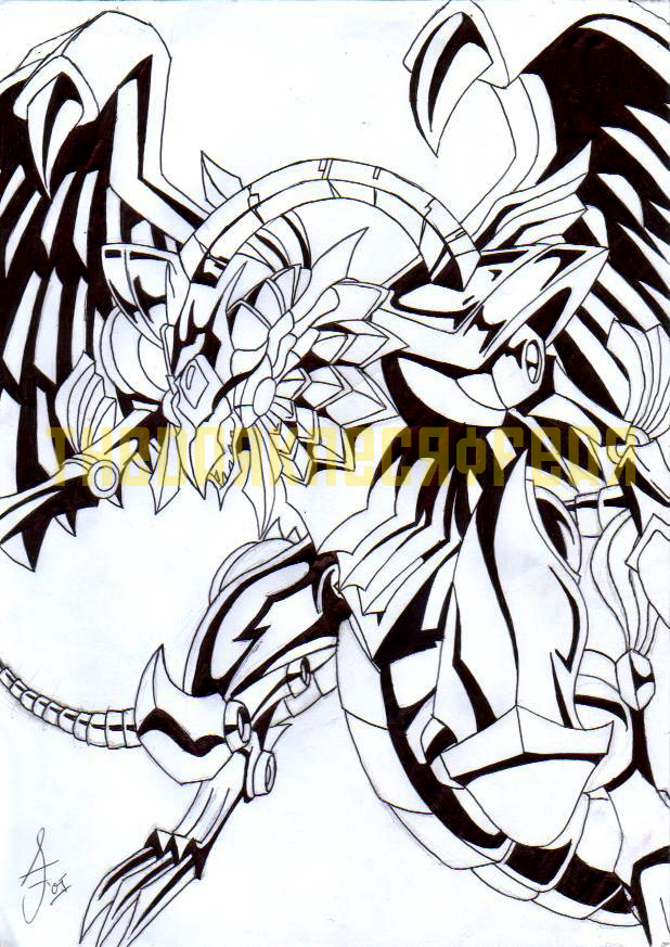 The Winged Dragon of Ra by AdzStitch
