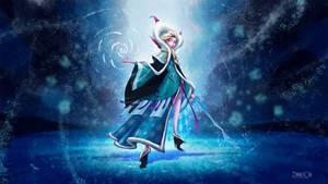 Elsa - frozen by BLAME-001