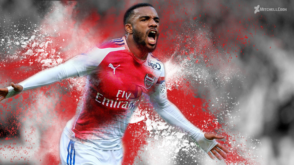 lacazette to arsenal wallpaper 2016 by mitchellcook on
