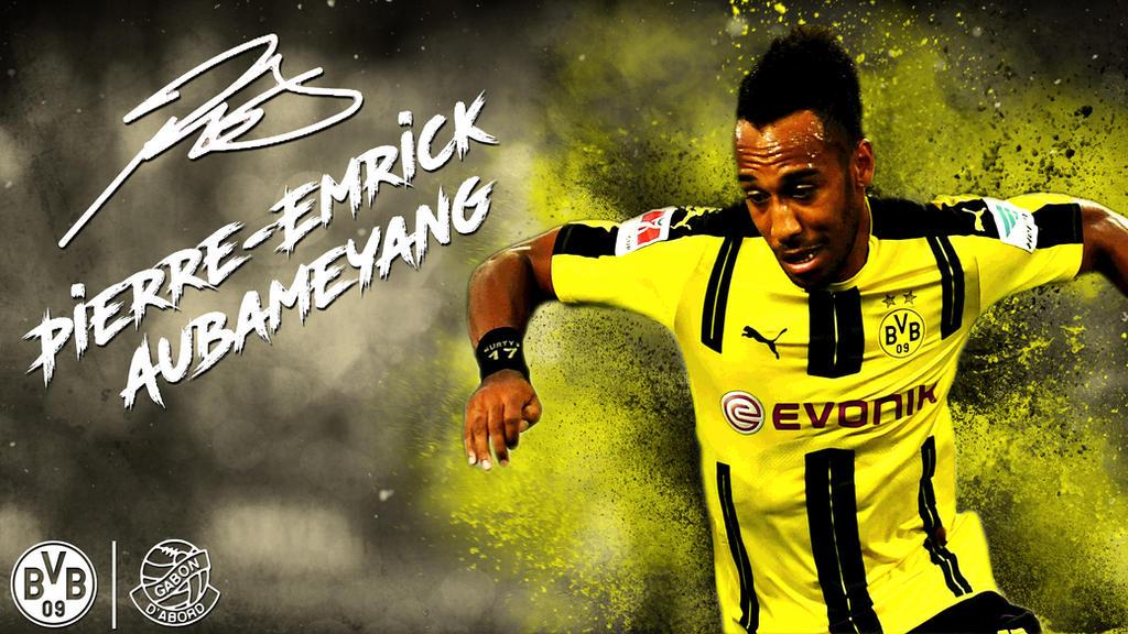Pirre-Emrick Aubameyang Dortmund 16/17 Wallpaper By