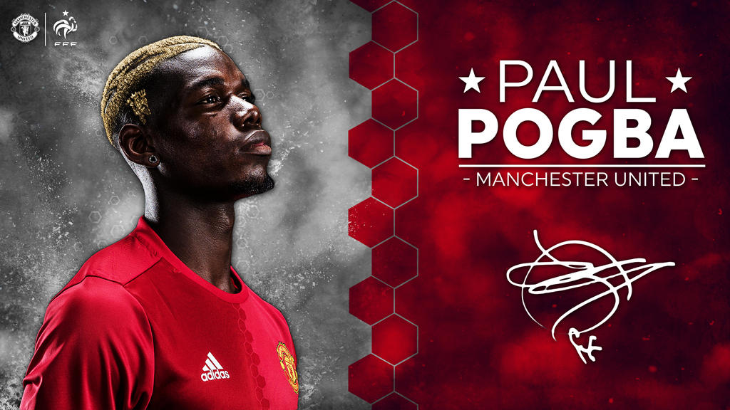 Paul Pogba Manchester United Wallpaper 2016/17 By