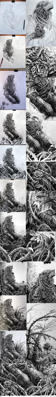 'hollowed' - progress shots by weremoon