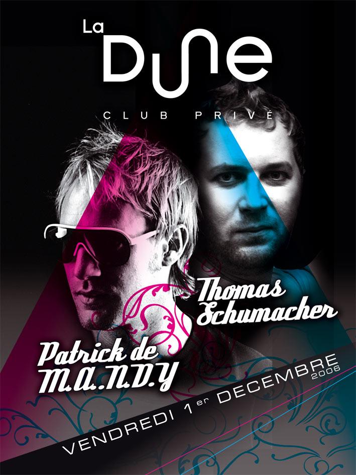 Mandy vs Schumacher Flyer by gregdelon 39 Hottest Nightclub Flyer Designs