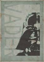 Darth Vader - Vintage Poster Art - 3ftDeep by 3ftDeep