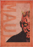 Darth Maul Vintage style poster - 3ftdeep by 3ftDeep