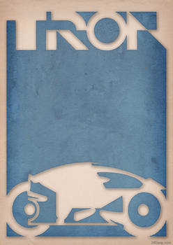 Tron - Light Cycle Poster by 3ftdeep