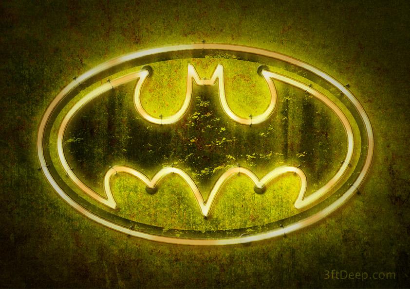 Batman Logo - Neon by 3ftDeep