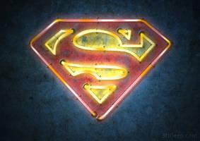 Superman Logo - Neon by 3ftDeep