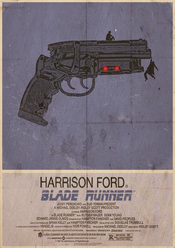 Blade Runner Alternative, Minimalist Poster by 3ftDeep