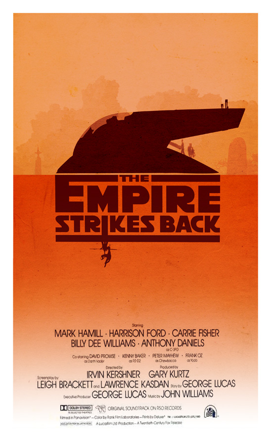 The Empire Strikes Back Minimalist Poster By 3ftdeep On Deviantart