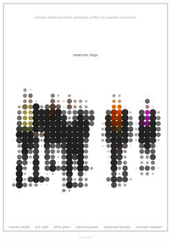 Reservoir Dogs - Alternative, Minimalist Poster