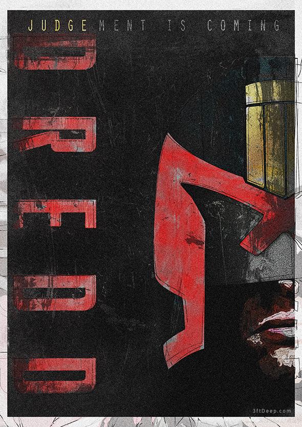 Judge Dredd - Alternative Movie Poster V2. by 3ftDeep