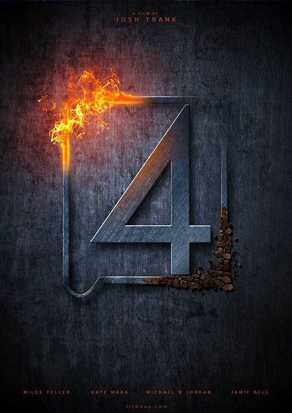 Fantasic Four 2015 -  Alternative Movie Poster by 3ftDeep
