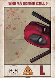 Deadpool - Vintage Style poster - 3ftDeep by 3ftDeep