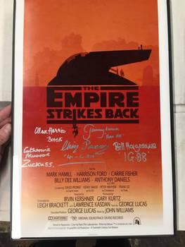 Scum + Villainy -Empire Strikes Back signed poster