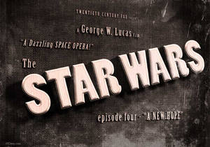 Star Wars - A New Hope -vintage movie title screen