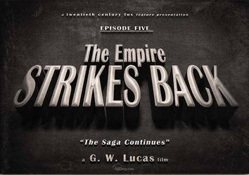 Star Wars - The Empire Strikes Back vintage title by 3ftDeep