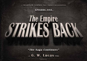 Star Wars - The Empire Strikes Back vintage title