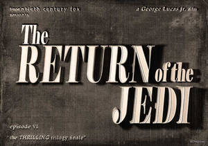 Return of the Jedi - vintage movie title