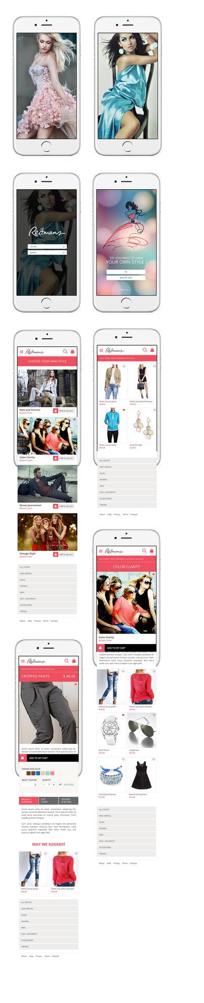 Reitmans App IOS by Webdesignerps