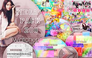 +MEGA PACK|200 Watchers |Muchas Gracias by Pohminit