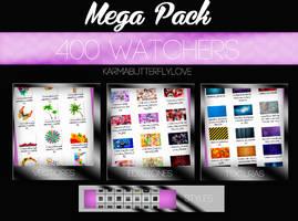 +Mega Pack|400 Watchers|Muchas Gracias by Pohminit