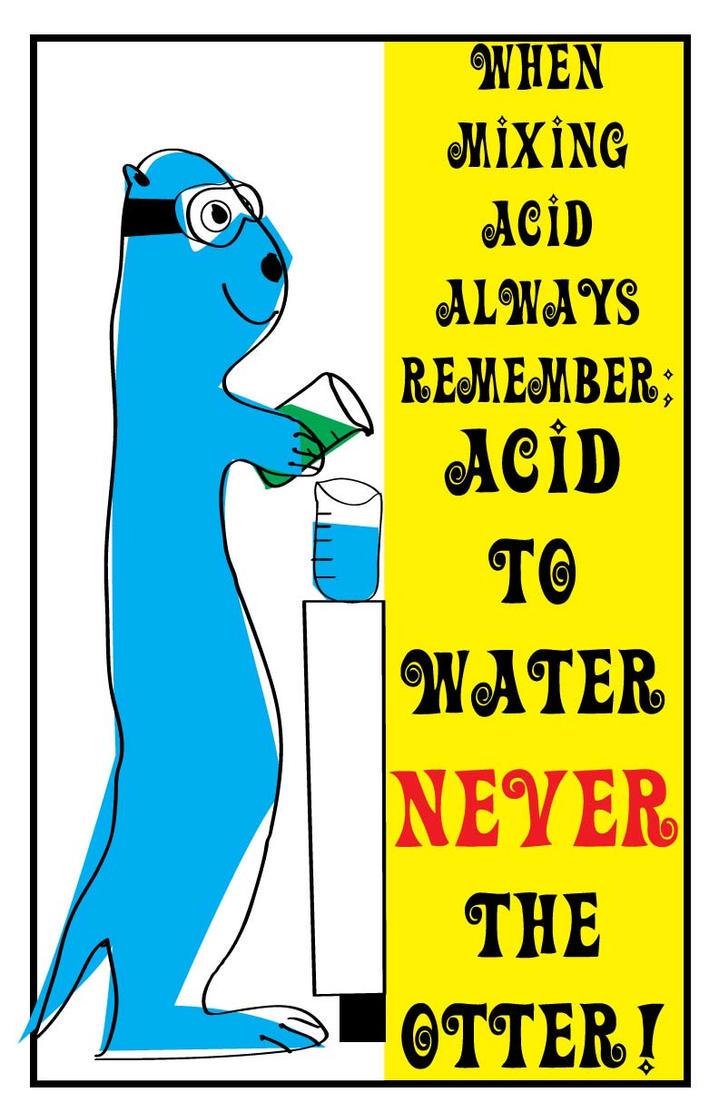 Acid Warning Poster