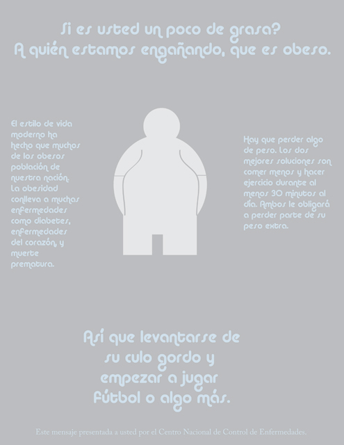 Spanish Obesity PSA Poster