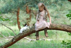 In the woods with a rabbit (4) by anastasiya-landa