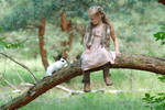 In the woods with a rabbit (4)