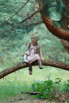 In the woods with a rabbit (8)