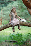In the woods with a rabbit (10)