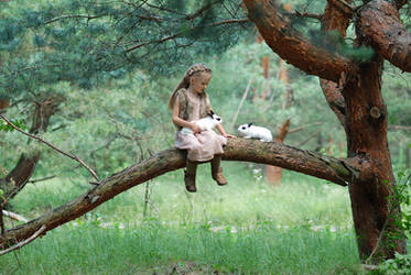 In the woods with a rabbit (14) by anastasiya-landa
