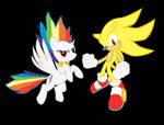 Super Sonic and Rainbow Dash!!