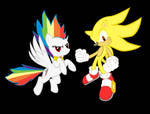 Super Sonic and Rainbow Dash!!