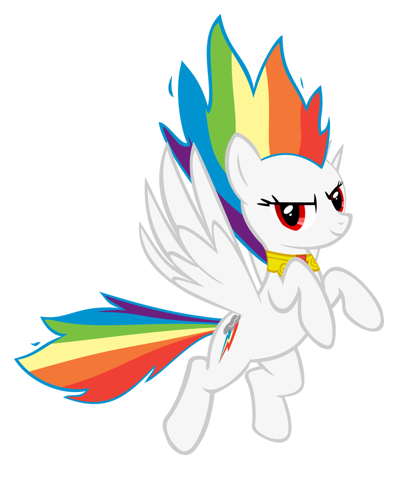 Super Rainbow Dash - Flame of Loyalty by GeoNine