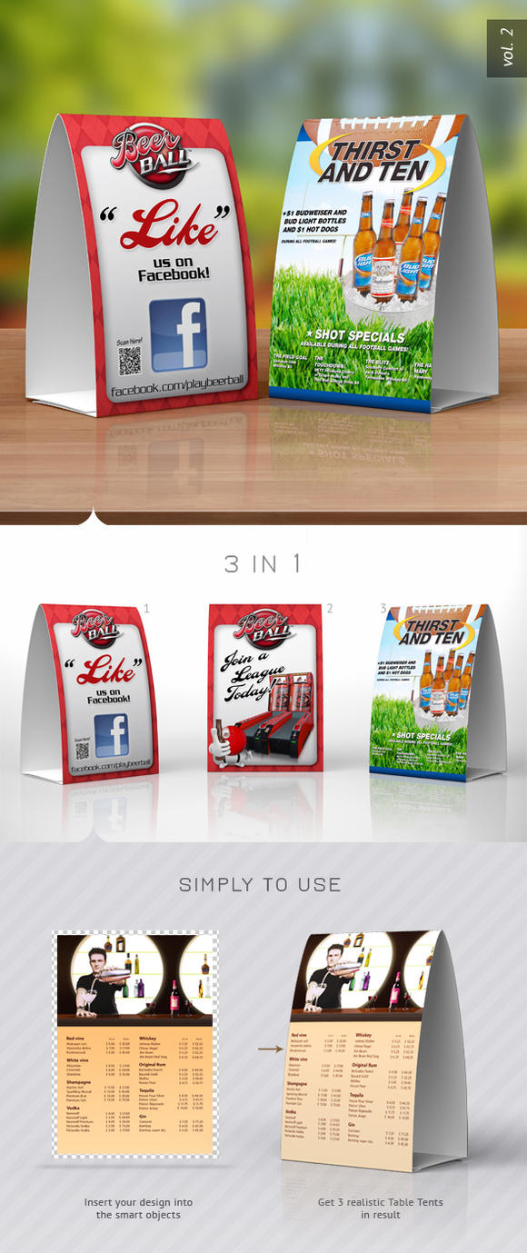 Table Tents Design Template