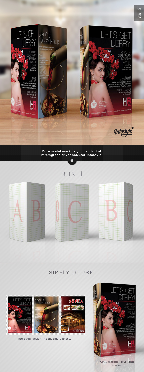 tri fold tent card template - paper tri fold table tent mock up template vol 5 by