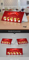Tri-Fold Table Tent Mock-up Template Vol.7 by Itembridge