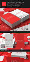 Stack Business Cards Mock-Up by Itembridge