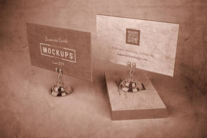 Letterpress Business Cards Mockup by Itembridge