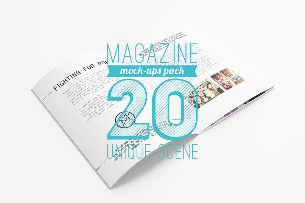 20 Magazine Mock-ups Pack by Itembridge
