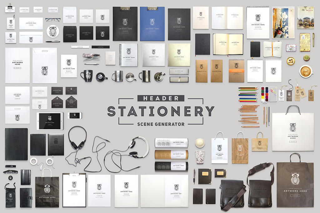 Header Stationery Scene Generator by Itembridge