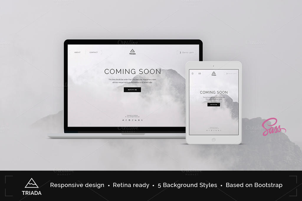 Triada Coming Soon Template by Itembridge