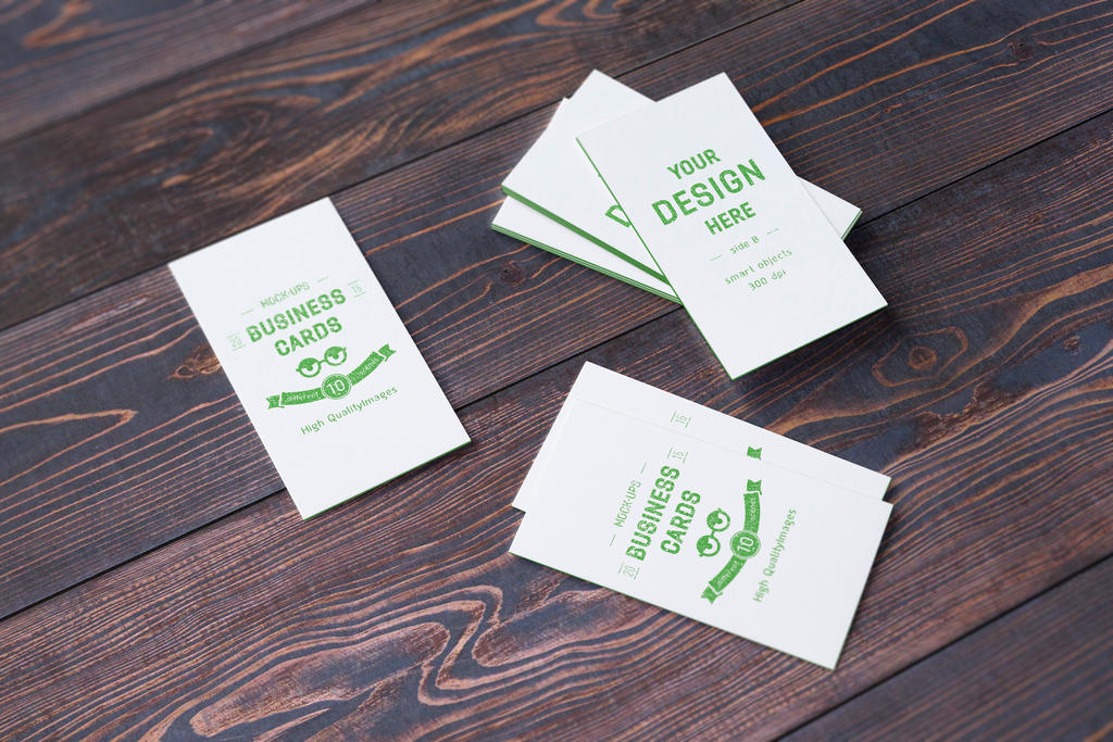 10 Realistic Business Card Mock-up's by Itembridge