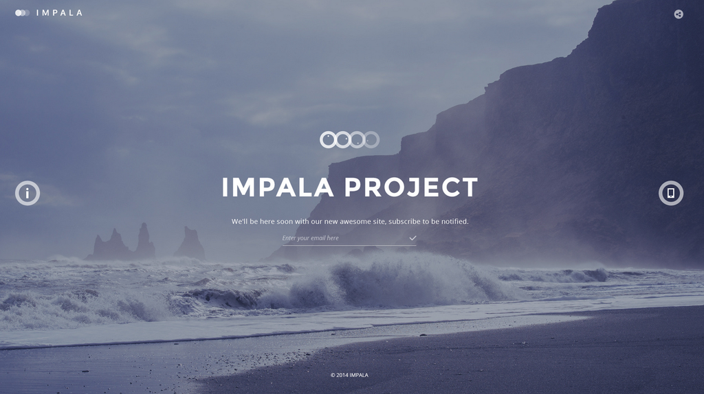 Impala Coming Soon Template by Itembridge