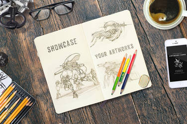 Sketchbook Notebook Mockups by Itembridge