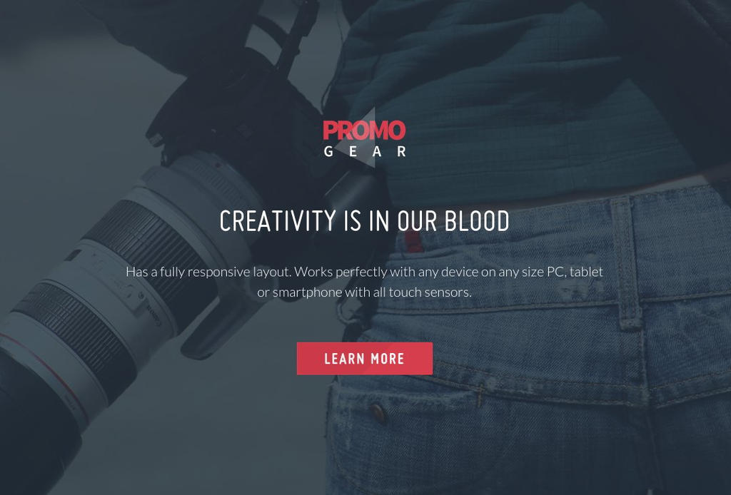 PromoGear Creative One Page Multipurpose Theme by Itembridge