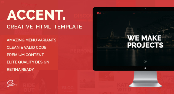 Accent Creative Responsive OnePage Template by Itembridge